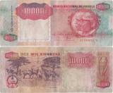 1991 ( 4 II ) , 10,000 kwanzas ( P-131b ) - Angola