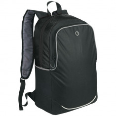 Rucsac Laptop, Everestus, BN, 17 inch, 600D poliester, negru, saculet de calatorie si eticheta bagaj incluse
