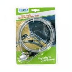 Cablu securitate notebook 4World cu cheie