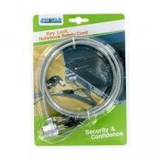 Cablu securitate notebook 4World cu cheie foto