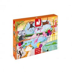 Puzzle tactil - La gradina zoologica - 20 de piese, Janod J02774