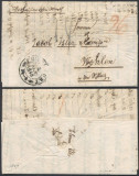 Germany 1848 Stampless Cover + Content Frankfurt Wohlen DB.503
