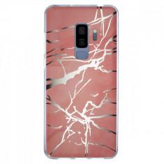 Husa Fashion Samsung Galaxy S9 Plus Marble Roz