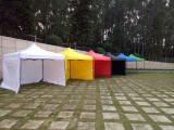 Pavilion cort grădină tip acordeon 2x2, 2x3, 3x3, 2x4,5, 3x6m în diverse culori