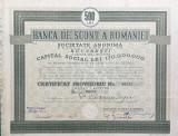 Actiuni Banca de Scont a Romaniei 1934