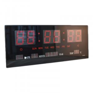 Ceas digital de perete 3615, LED rosu