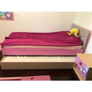 Mobila roz, Kika, camera de fetite