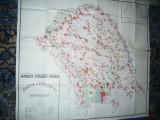 Harta mare - Judet BOTOSANI ,dim.=120x111cm RSR 1979 Inst.Geodezie si Organizare