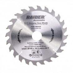 Disc pentru fierastrau circular Raider 190x24Tx30mm