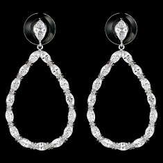 Cercei placati cu Aur 18K si Diamante, Helen