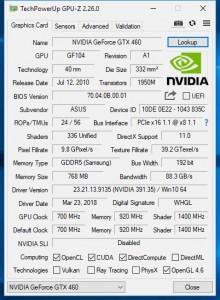 Placa video ASUS GeForce GTX 460 DirectCU Top 768MB GDDR5 192-bit
