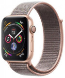 Smartwatch Apple Watch 4, 40mm, LTPO OLED Retina Display, GPS, Bluetooth, Wi-Fi, Bratara Sport Loop Roz, Carcasa aluminiu, Rezistent la apa si praf (G