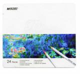 Creioane 24 culori - caseta metal Marco Raffine 7100-24TN