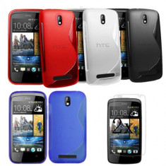 Husa HTC Desire 500 + folie protectie display + stylus