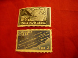 2 Timbre Italia 1943 Aviatie cu supratipar PM Posta Militara, Nestampilat