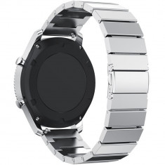 Curea pentru Smartwatch Samsung Gear S3, iUni 22 mm Otel Inoxidabil Silver Link Bracelet