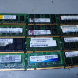 Lot 12 memorii RAM laptop DDR2 1 Gb