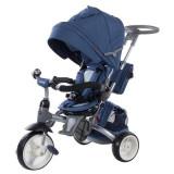 Cumpara ieftin Tricicleta cu sezut reversibil Sun Baby 007 Little Tiger - Melange Blue
