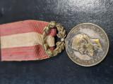 Medalie regalista CAROL I....ca raspalata muncii invatamant