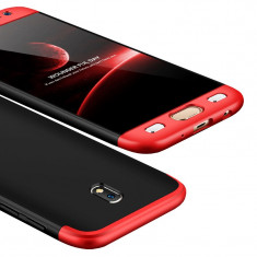 Husa 360 Full Body Fata Spate Samsung Galaxy J5 2017 J530 black cu red