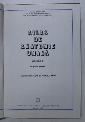 ATLAS DE ANATOMIE UMANA DE MIRCEA GH. IFRIM VOL 2 BUCURESTI 1984 foto