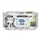 Absorbant Plus Antibacterian Pet Wipes Baby Powder, 80 bucati