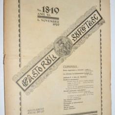 Revista teologica Pastorul sufletesc NR. 18 -19, Lugoj 1929