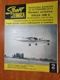 sport si tehnica februarie 1970-pionieri romani ai automobilului,avion romanesc