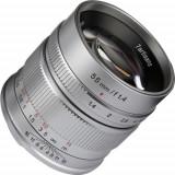 Obiectiv manual 7Artisans 55mm F1.4 Silver pentru Canon EOS-M Mount