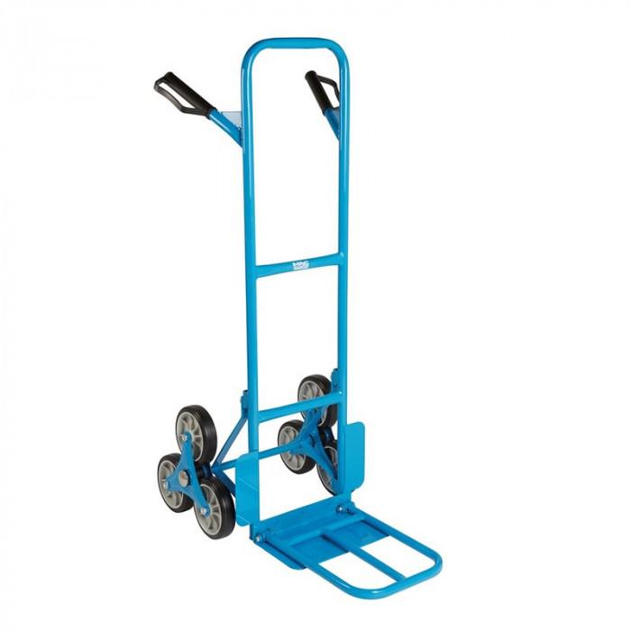Carucior pentru marfa Mac Allister, 49 x 52.5-74 x 118 cm, otel, maxim 150 kg, Albastru