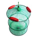 Juvelnic cu plasa rara verde, cu cercuri din otel si plutitori
