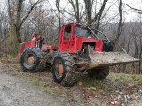 TAF forestier, motor Deutz, tractiune 4x4, punți vola Hanomag, scut mare, PilotOn