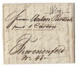 Austria Österreich 1839 pre-philatelic letters, Wien to Teresienfeld D.065