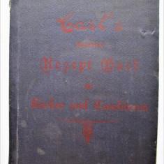 Carte veche, Retete de Cofetarie si Patiserie: In lb. germana - New York 1921