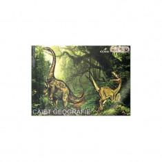 Caiet pentru geografie, 24 file, dimensiuni 17x24cm, clasele V-VIII