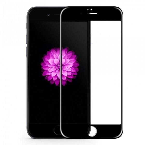Folie de sticla Apple iPhone 7/8, Elegance Luxury margini colorate Black