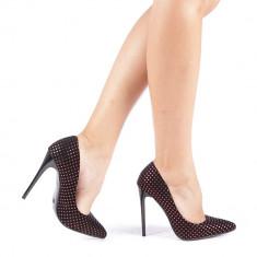 Pantofi stiletto Anais rosii