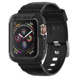 """Cumpara ieftin Husa Antisoc Premium Spigen Rugged Armor """"PRO"""" pentru Apple Watch Seriile 6/5/4/SE (44mm), Protectie la Standarde Militare, Negru, Carcase si huse smartwatch"""