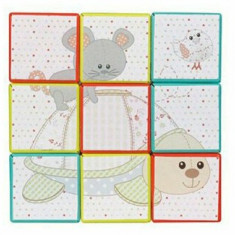 Puzzle 9 cuburi Fresh Touch girafa Sophie Vulli