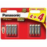 Set 8 Baterii Tip AAA Pro Power, Panasonic