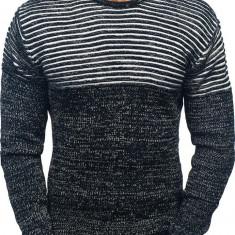 Pulover pentru bărbat negru-alb Bolf 156
