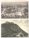 SV * Deva LOT x 2 * CETATEA * VEDERE GENERALA * 1917 - 1918, Circulata, Necirculata, Fotografie, Printata