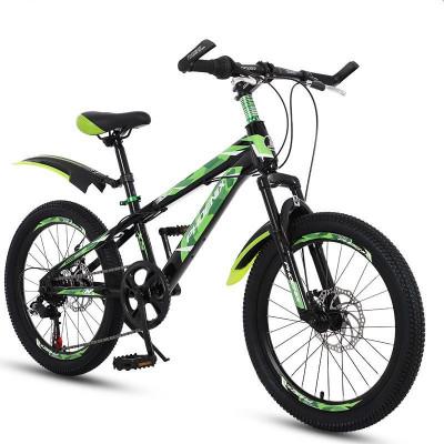Bicicleta MTB 22 inch, 7 viteze, schimbator Shimano, cadru otel, frane pe disc, verde, Phoenix foto