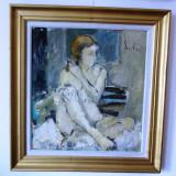 """Florin SUTU (n.1959), """"Nud""""- ulei/carton, 66x62 cm, Altul"""
