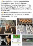"""Statuetă Figurină Bibelou Porțelan Arpo """" Boxer Mastiff Bulldog Trofeu Cățeluș """""""