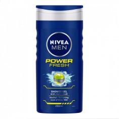 Nivea Gel de dus Barbati 250 ml Power Fresh
