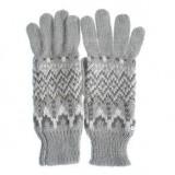 Manusi tricotate, model zigzag