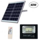Cumpara ieftin Proiector LED 40W cu panou solar si telecomanda