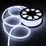Furtun luminos neon alb , 30 lm, IP66, flexibil, alimentare retea