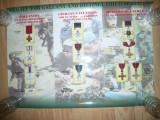 Afis cu Medalii Armata Britanica pt. Servicii Deosebite , dim.= 84x60 cm